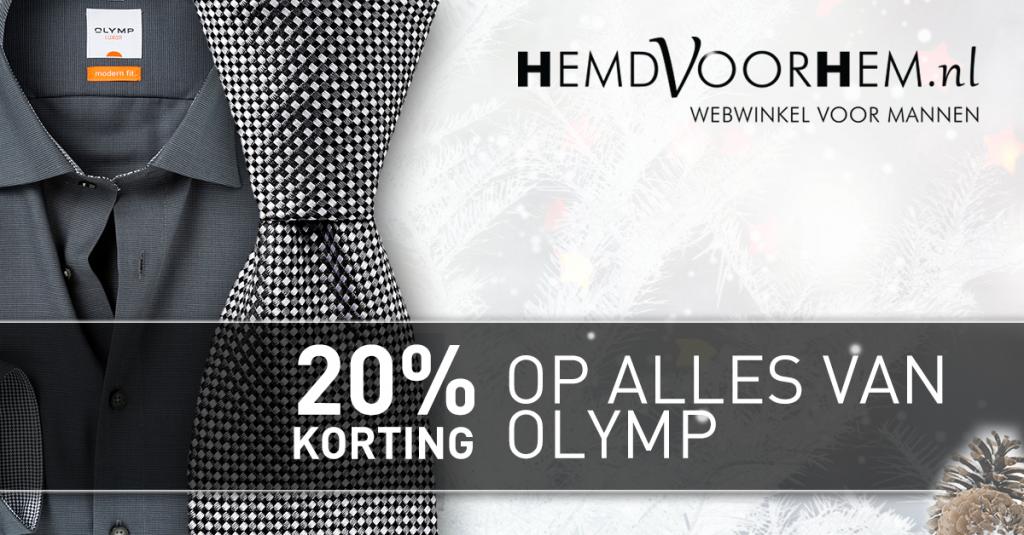 20% korting op OLYMP